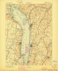 Tarrytown, New Jersey 1893 (1897) USGS Old Topo Map 15x15 NJ Quad