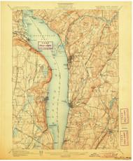 Tarrytown, New Jersey 1902 (1906) USGS Old Topo Map 15x15 NJ Quad