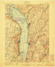 Tarrytown, New Jersey 1902 (1907) USGS Old Topo Map 15x15 NJ Quad