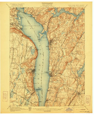 Tarrytown, New Jersey 1902 (1922) USGS Old Topo Map 15x15 NJ Quad