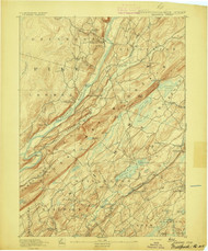 Wallpack, New Jersey 1893 USGS Old Topo Map 15x15 NJ Quad