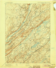 Wallpack, New Jersey 1893 (1905) USGS Old Topo Map 15x15 NJ Quad