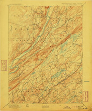 Wallpack, New Jersey 1893 (1910) USGS Old Topo Map 15x15 NJ Quad