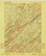 Wallpack, New Jersey 1893 (1916) USGS Old Topo Map 15x15 NJ Quad