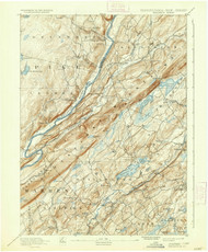Wallpack, New Jersey 1893 (1937) USGS Old Topo Map 15x15 NJ Quad