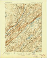 Wallpack, New Jersey 1893 (1944) USGS Old Topo Map 15x15 NJ Quad