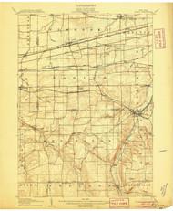 Attica, NY 1905 (1905) USGS Old Topo Map 15x15 NY Quad