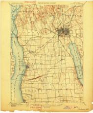 Auburn, NY 1902 (1902) USGS Old Topo Map 15x15 NY Quad