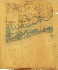 Babylon, NY 1903 (1903) USGS Old Topo Map 15x15 NY Quad
