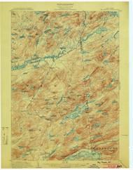 Big Moose, NY 1903 (1903) USGS Old Topo Map 15x15 NY Quad