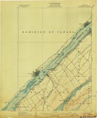 Brier Hill, NY 1906 (1906) USGS Old Topo Map 15x15 NY Quad