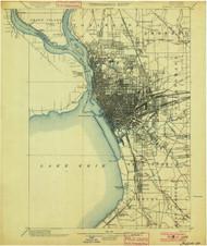 Buffalo, NY 1901 (1901) USGS Old Topo Map 15x15 NY Quad
