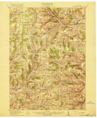 Canaseraga, NY 1916 (1916) USGS Old Topo Map 15x15 NY Quad