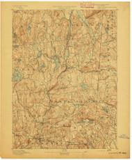 Carmel, NY 1892 (1892) USGS Old Topo Map 15x15 NY Quad