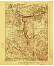 Cattaraugus, NY 1923 (1923) USGS Old Topo Map 15x15 NY Quad