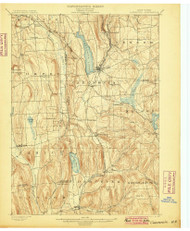 Cazenovia, NY 1899 (1899) USGS Old Topo Map 15x15 NY Quad