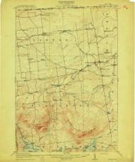 Churubusco, NY 1915 (1915) USGS Old Topo Map 15x15 NY Quad
