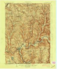 Depost, NY 1926 (1926) USGS Old Topo Map 15x15 NY Quad