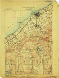 Dunkirk, NY 1900 (1900) USGS Old Topo Map 15x15 NY Quad