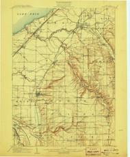 Eden, NY 1907 (1907) USGS Old Topo Map 15x15 NY Quad