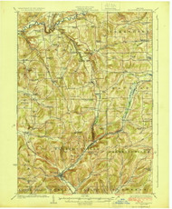 Ellicottville, NY 1924 (1924) USGS Old Topo Map 15x15 NY Quad