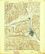 Elmira, NY 1895 (1895) USGS Old Topo Map 15x15 NY Quad