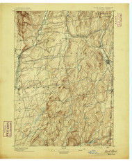 Fort Ann, NY 1895 (1895) USGS Old Topo Map 15x15 NY Quad