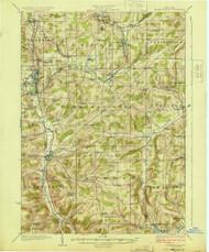Franklinville, NY 1924 (1924) USGS Old Topo Map 15x15 NY Quad
