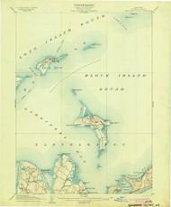 Gardiners Island, NY 1904 (1904) USGS Old Topo Map 15x15 NY Quad