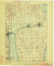 Geneva, NY 1902 (1902) USGS Old Topo Map 15x15 NY Quad