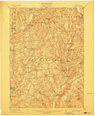 Hartwick, NY 1912 (1912) USGS Old Topo Map 15x15 NY Quad