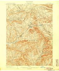 Hobart, NY 1904 (1904) USGS Old Topo Map 15x15 NY Quad