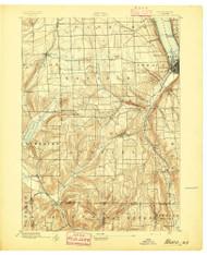 Ithaca, NY 1895 (1895) USGS Old Topo Map 15x15 NY Quad