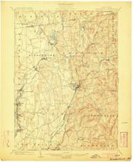 Kinderhook, NY 1903 (1903) USGS Old Topo Map 15x15 NY Quad