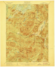 Lake Pleasant, NY 1907 (1907) USGS Old Topo Map 15x15 NY Quad