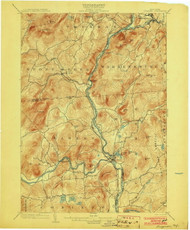 Luzurne, NY 1903 (1903) USGS Old Topo Map 15x15 NY Quad