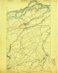 Massena, NY 1907 (1907) USGS Old Topo Map 15x15 NY Quad