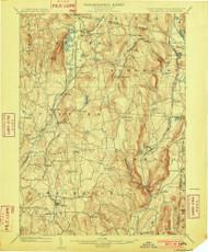Millbrook, NY 1902 (1902) USGS Old Topo Map 15x15 NY Quad