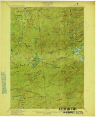 Number Four, NY 1915 (1915) USGS Old Topo Map 15x15 NY Quad