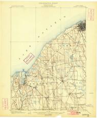 Oswego, NY 1900 (1900) USGS Old Topo Map 15x15 NY Quad