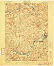 Owego, NY 1903 (1903) USGS Old Topo Map 15x15 NY Quad
