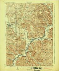 Randolph, NY 1923 (1923) USGS Old Topo Map 15x15 NY Quad