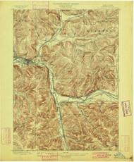 Salamanca, NY 1900 (1900) USGS Old Topo Map 15x15 NY Quad