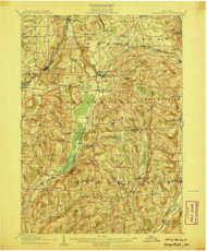 Sangerfield, NY 1907 (1907) USGS Old Topo Map 15x15 NY Quad