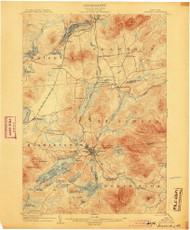 Saranac, NY 1904 (1904) USGS Old Topo Map 15x15 NY Quad