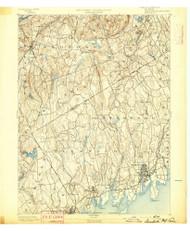 Stamford, NY 1892 (1892) USGS Old Topo Map 15x15 NY Quad