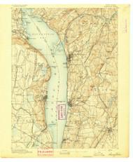 Tarrytown, NY 1892 (1892) USGS Old Topo Map 15x15 NY Quad