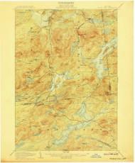 Tupper Lake, NY 1907 (1907) USGS Old Topo Map 15x15 NY Quad