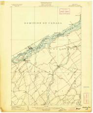 Waddington, NY 1905 (1905) USGS Old Topo Map 15x15 NY Quad