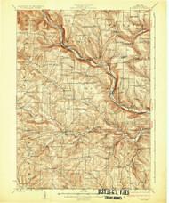 Woodhull, NY 1926 (1926) USGS Old Topo Map 15x15 NY Quad